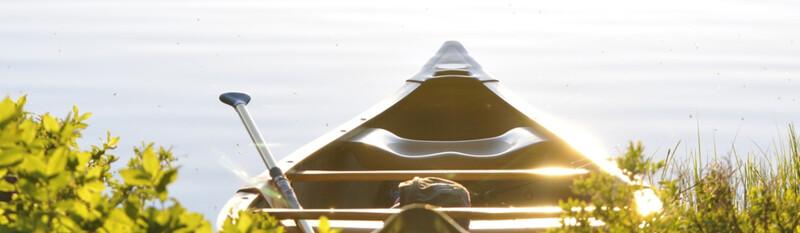 canoe near water