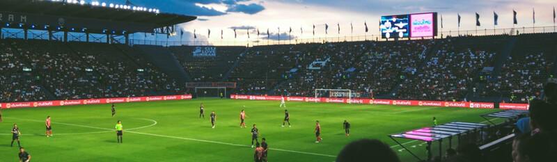 soccer stadium at night