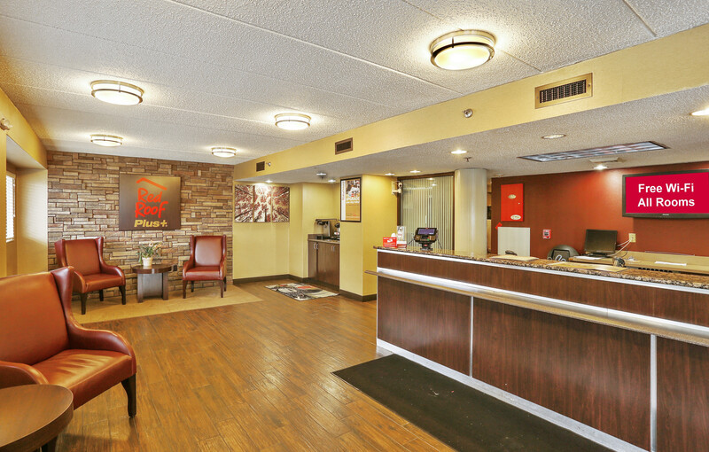 Red Roof PLUS+ Baltimore North - Timonium Front Desk and Lobby