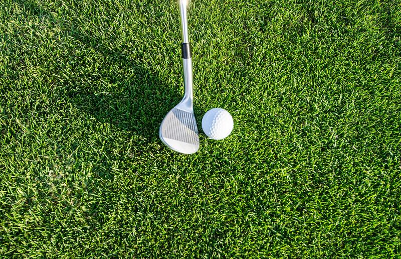 golf ball nearing the hole