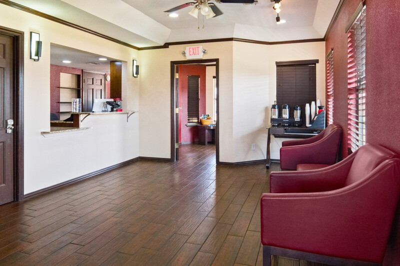 Red Roof Inn Waco Front Desk and Free Coffee in the Lobby