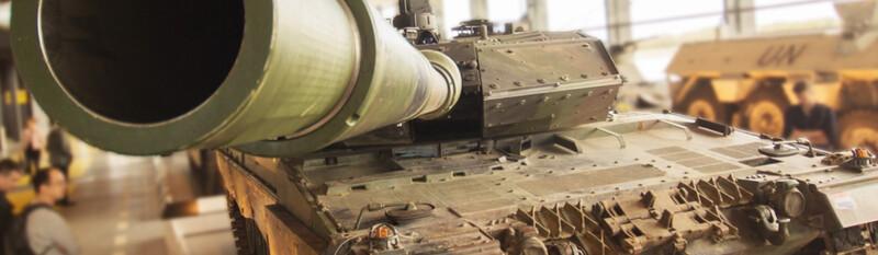 tank at military museum