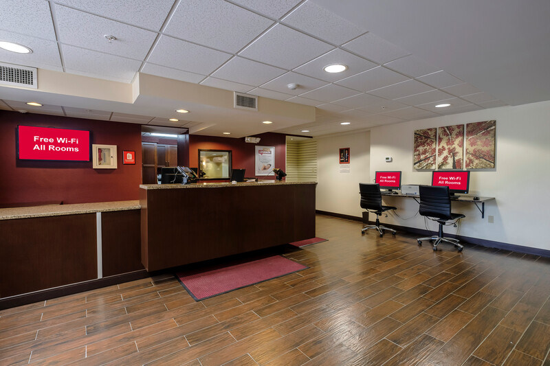 Red Roof PLUS+ & Suites Malone Front Desk and Business Center Image