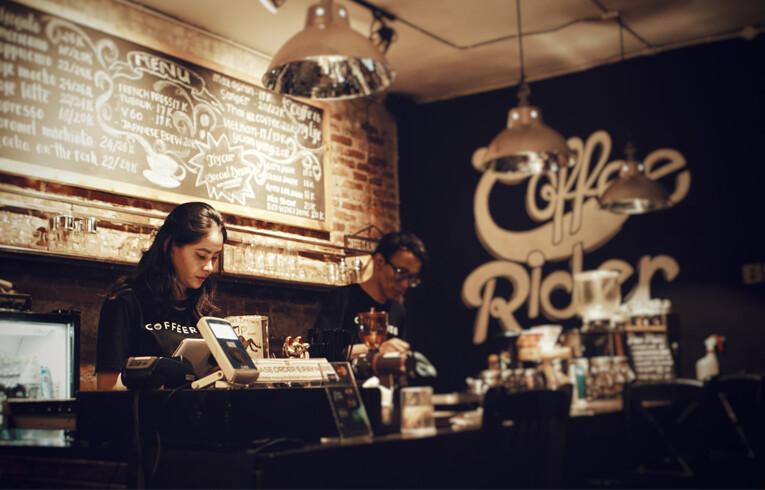 hip trendy coffee shop