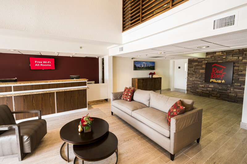 Red Roof PLUS+ Houston - Energy Corridor Front Desk and Lobby