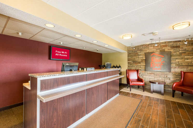 Red Roof Inn Boston - Southborough/Worcester Front Desk and Lobby
