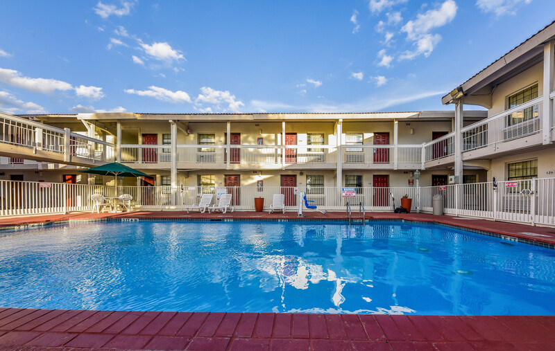 Red Roof Inn Plano Outdoor Swimming Pool Image Details