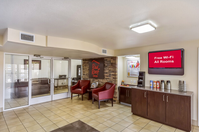 Red Roof Inn Plano Front Desk and Lobby Image Details