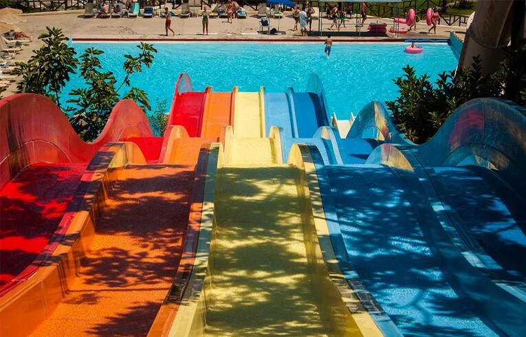 slide at waterpark