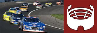 race cars on track