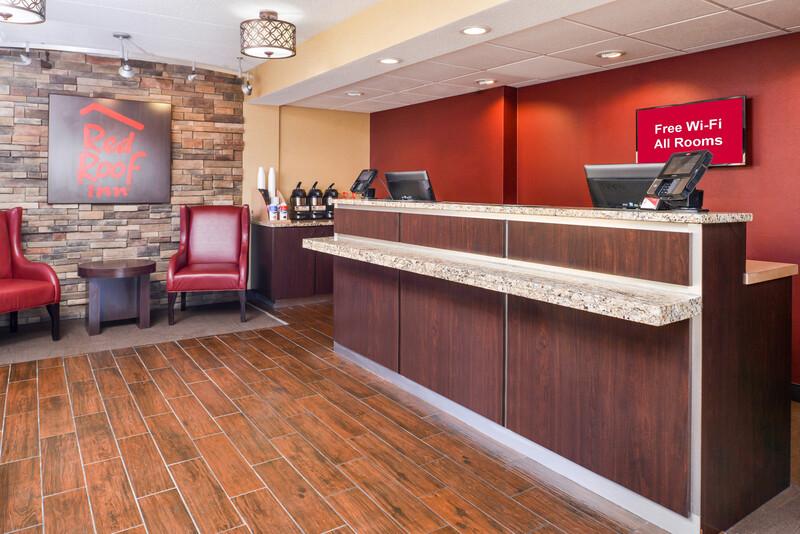 Red Roof Inn Merrillville Front Desk and Lobby Image Details