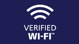 Verified Wi-Fi™ logo, provided throughout the hotel and in each guest room
