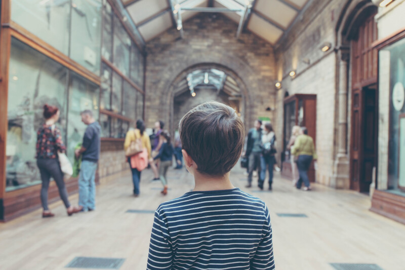 kid in a museum