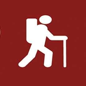 icon of person hiking
