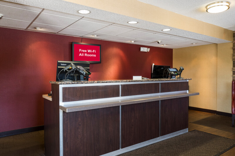 front desk - lobby area